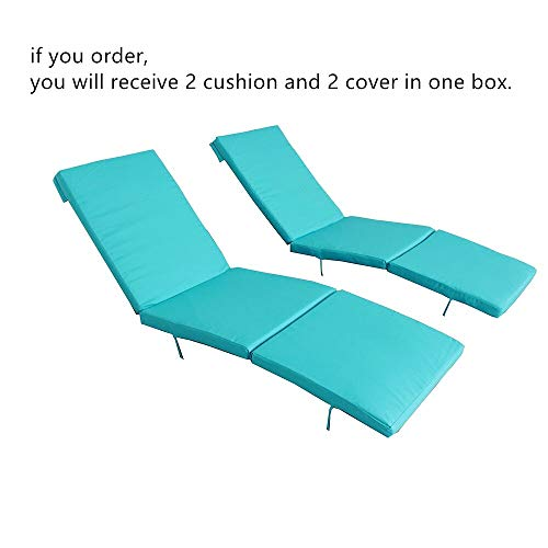 (2Pcs Turquoise Cushion and Cover of Jetime Armless and Armed Lounge Chair)
