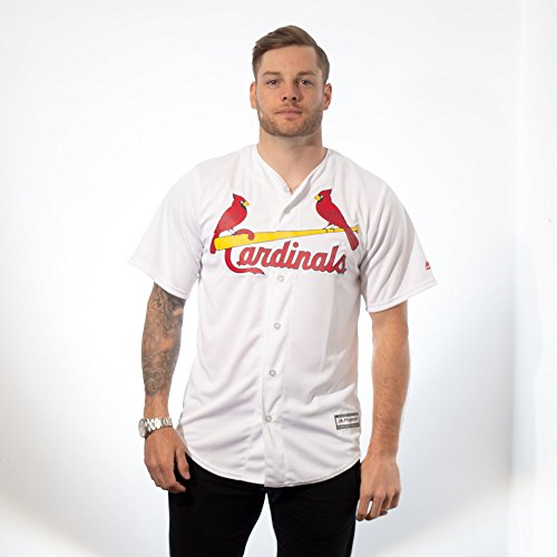 ardinals Cool Base Jersey, Home White 2XL (Louis Cardinals Replica Home Jersey)