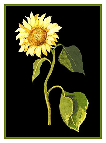 Orenco Originals The Great Sunflower Flower Mary Delany Counted Cross Stitch Pattern ()