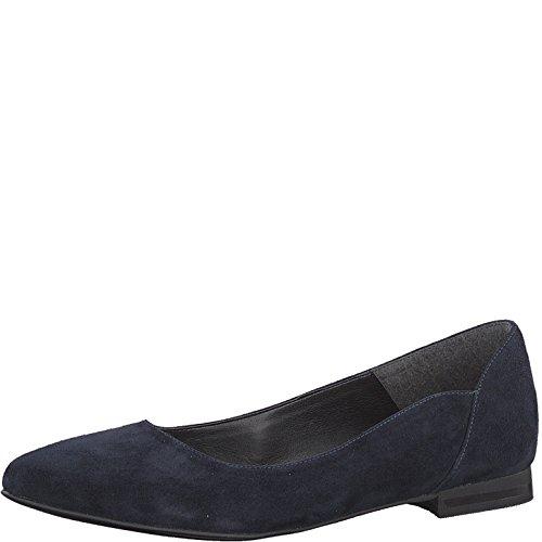 Tamaris 1-1-22156-20 Ballerina Da Donna, Scarpe Estive Per La Donna In Pelle Scamosciata Blu