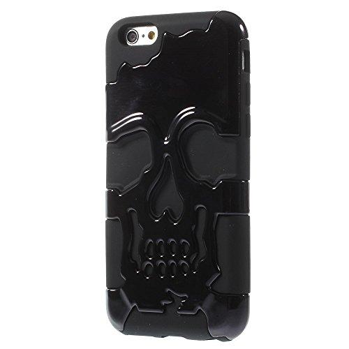 Apple iPhone 6S 6tête de mort Skull Housse étui Cover Case Noir decui Coque de protection en silicone