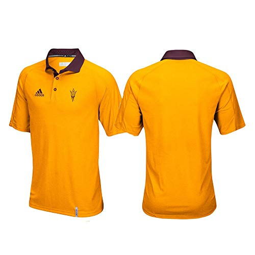 (adidas Arizona State Sun Devils NCAA Men's Sideline Climachill Performance Yellow Polo Shirt)