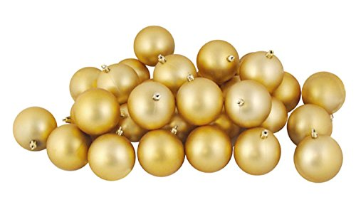 Northlight 31755236 12 Count Matte Vegas Gold Shatterproof Christmas Ball Ornaments, 4'' by Northlight