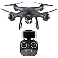 Fineser S70W 2.4GHz GPS FPV Quadcopter Drone with 1080P HD Camera ,Adjustable120° Wide-Angle ,GPS Automatic Return, Altitude Hold and Headless Mode (Black)
