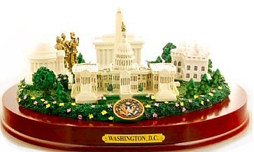 "Washington DC Paperweight - Large Monuments (9 1/2"" Wide) , Washington DC Souvenirs, Washington D.C. Gifts"