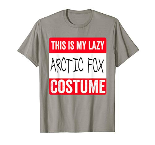 This is my lazy Arctic Fox costume Shirt -