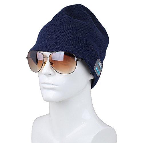 Bluetooth Beanie Headset, Wireless Stereo Microphone Headphone Winter Hat (EPA20N)