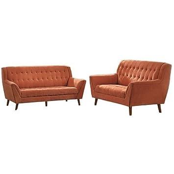 Amazon.com: Homelegance Erath Danish 2 Pieces Living Room ...