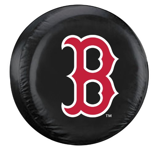 Fremont Die MLB Boston Red Sox Tire Cover, Black, Large