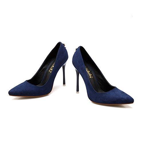 Azul de AdeeSu para Cierre tacón sin Zapatos Mujer T4wxqH40