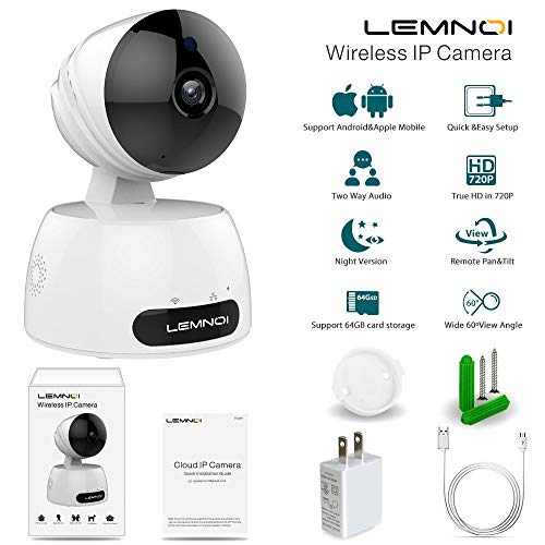 Wireless IP Camera 720P, Lemnoi WiFi Security Camera Baby