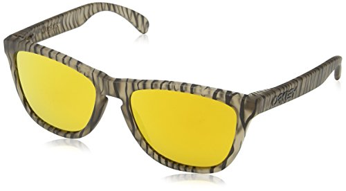 Oakley Men's Frogskins OO9013-67 Non-Polarized Iridium Wayfarer Sunglasses, Matte Sepia/Urban Jungle, 55 - Sepia Matte