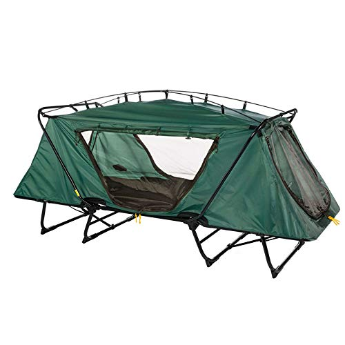 Oversize Tent Cot Folding Outdoor Camping & Hiking Bed for 1 Person with Ebook