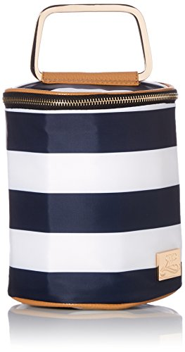 ROSIE POPE Double Bottle Cooler, Navy Stripe