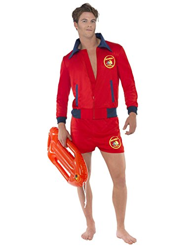 Smiffy's 20587l Red Baywatch Lifeguard Costume (Baywatch Halloween Costumes)
