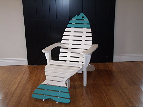 Adirondack Style Footrest (Poly Fish Adirondack Chair with Ottoman-Bright Cedar)