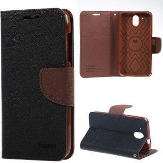 purchase cheap 2288f be80e CEDO Magnetic Wallet Style Flip Cover for Moto E3 (Black and Brown)