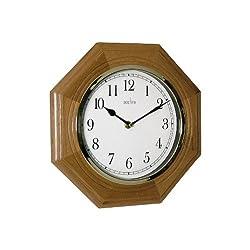 Acctim Richmond Octagonal Wood Wall Clock, Wood