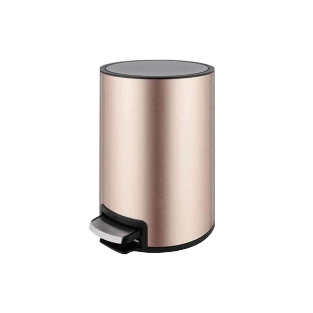 LVAB Mülleimer- Mülleimer - mit Fußpedal, Mülleimer mit Deckel und abnehmbarem Inneneimer (Farbe : Champagne Gold, größe : 12L)