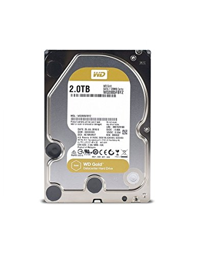 WD Gold 2TB Enterprise Class Hard Disk Drive - 7200 RPM Class SATA 6 Gb/s 128MB Cache 3.5 Inch - WD2005FBYZ by Western Digital