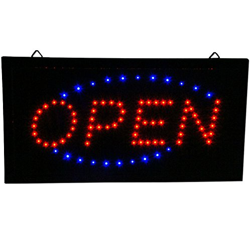 Ultra Bright Animated LED Light Open Business Bar Store Window Sign neon 19x10