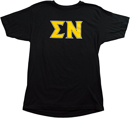 Sigma Nu Fraternity | Licensed Greek Unisex Fitted Men's Black T-shirt