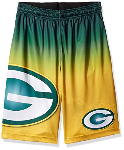 FOCO NFL Green Bay Packers Football Team Logo Gradient Big Logo Training Shorts, Team Color, X-Large
