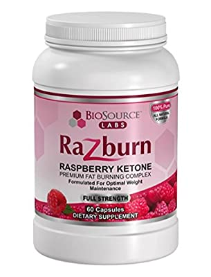 100% Pure Raspberry Ketones Complex By BioSource Labs (60 Veggie Capsules) – All Natural, Thermogenic, Weight Loss Pills For Men & Women – Caffeine & Green Tea Extract To Boost Energy & Metabolism