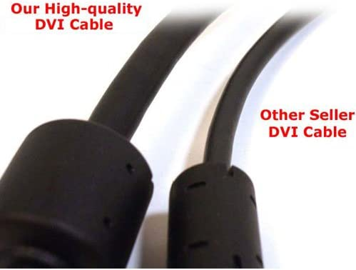 Projector Cmple HDTV 25 Feet for Laptop DVI to DVI Cable Dual Link Gold Plated - DVI Dual Link Cable//DVI D Cable
