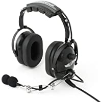 Rugged Air RA454 Black General Aviation Stereo Pilot Headset