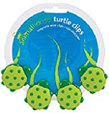 Boston Warehouse 94212 Green & Yellow Turtle Magnetic Clip 4 Count