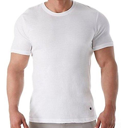 Lucky Brand Men's 3-Pack Crew T-Shirt, White, Medium