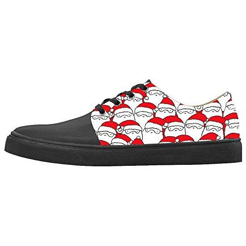Oregon Ducks Santa - Daniel Turnai Fan Custom Women's Shoes Santa Claus New Sneaker Canvas Pointed Toes