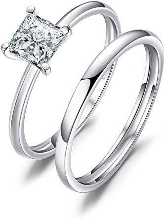 JewelryPalace Princess Zirconia Solitaire Engagement product image