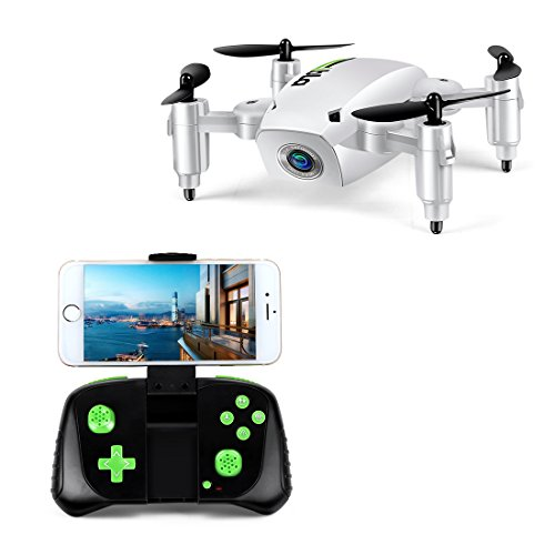 LBLA Mini Foldable RC Drone, FPV 2.4Ghz 6-Axis Gyro Altitude Hold RC Quadcopter with HD WiFi Camera from LBLA