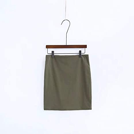HEHEAB Falda,Ejército Verde Acetato Verano Moda Cintura Delgada ...
