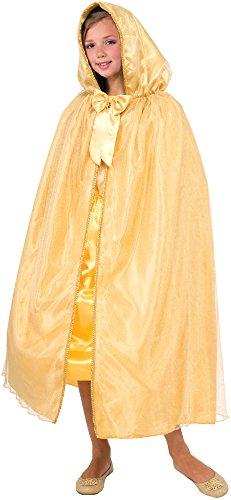Royal Princess Gold Cape Costume for Kids
