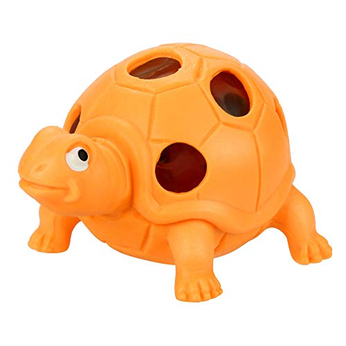 Hisoul Hot  Stress Reliever Toys Fun Tortoise Spongy Bead Rainbow Ball Squishies Squeeze Stress Relief Toy fit Collection Gift, Decorative Props Stress Relieve (Orange)