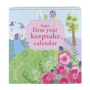 Cr Gibson Enchanted Baby Girl Princess First Year Scrapbook Calendar Slipcased Enchanted