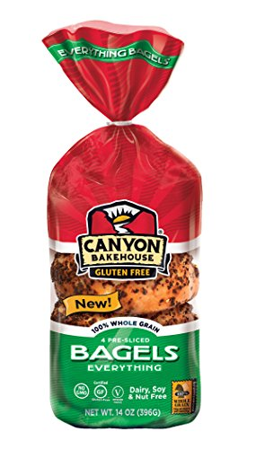 Canyon Bakehouse Gluten Free Everything Bagel 14oz (Pack of 2)