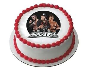 Wwe Superstars Wrestling Edible Image Cake Cupcake