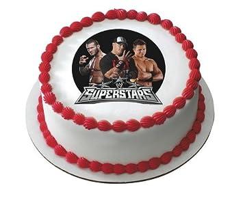 WWE Superstars Wrestling Edible Image Cake Cupcake Topper