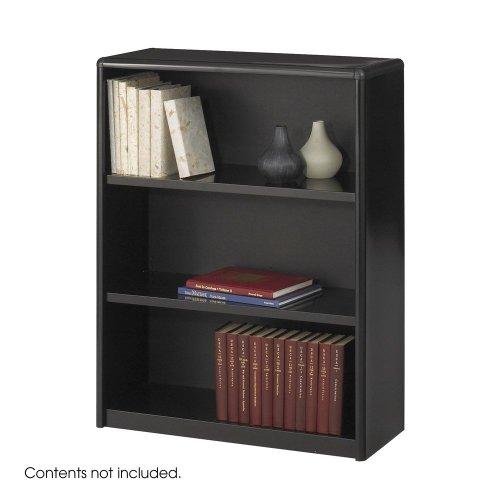 Safco 7171BL Value Mate Series Metal Bookcase, Three-Shelf, 31-3/4w x 13-1/2d x 41h, Black