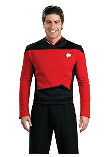 Star Trek the Next Generation Deluxe Red Shirt, Adult Large -