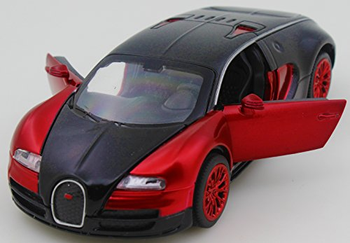 Bugatti Veyron 1:32 Alloy Diecast car model collection light&sound Red with color packaging ,Toys for Kids & Child - 32 Red Diecast Car