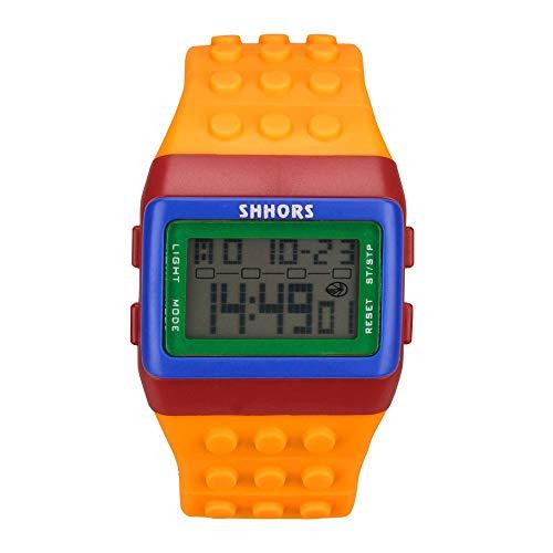WUAI Unisex Colorful Electronic Watch Digital LED Backlight Alarm Sport Wrist Watches
