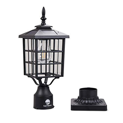 Light Fixture Base: Kemeco ST4224Q-A LED Cast Aluminum Solar Post Light