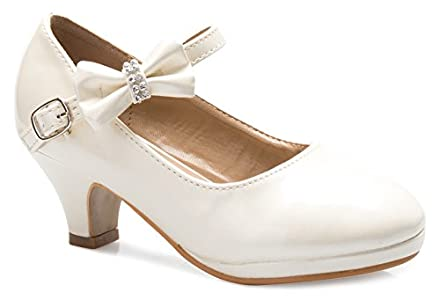 f348a3ec6eb OLIVIA K Girls Bow Mary Jane Kitten Heel Pumps – so even that they were a  little big they made one little girl very happy. I m glad I had to get  these ...