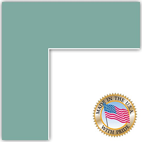 7x10 Nile Green Custom Mat for Picture Frame with 3x6 opening -