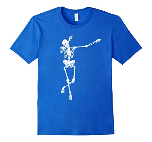 [Mens Funny Dabbing Skeleton Halloween T Shirt Dab Gift Small Royal Blue] (Biology Halloween Costume Ideas)